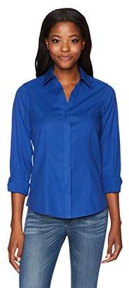 Foxcroft Women's Petite Ellen Non Iron Stretch Shirt