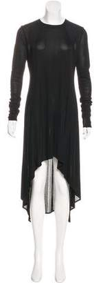 Alexander Wang Rib Knit Asymmetrical Dress