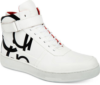 Calvin Klein Men's Navin High-Top Sneakers $150 thestylecure.com