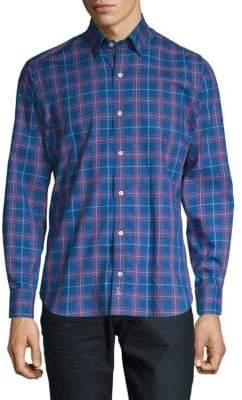 Tailorbyrd Maximo Plaid Button-Down Shirt