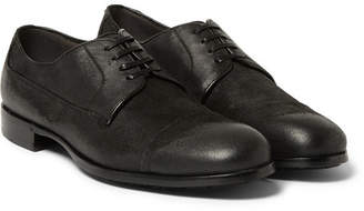 Dolce & Gabbana Distressed Suede Derby Shoes - Men - Black