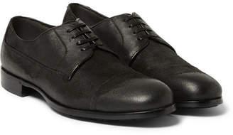 Dolce & Gabbana Distressed Suede Derby Shoes - Men - Black