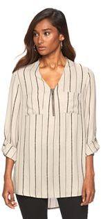 Women's Apt. 9® Chiffon Zipper-Accent Tunic $40 thestylecure.com