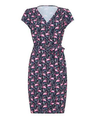 Yumi Curves Flamingo Wrap Dress