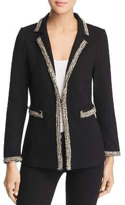 Misook Tweed Trim Textured Blazer