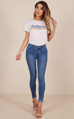 Showpo Julia skinny jeans in mid wash