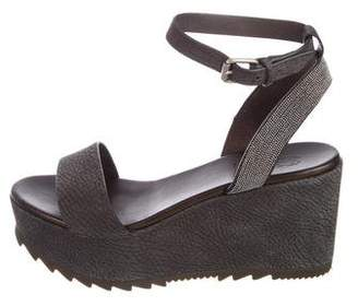 Brunello Cucinelli Monili-Embellished Platform Sandals