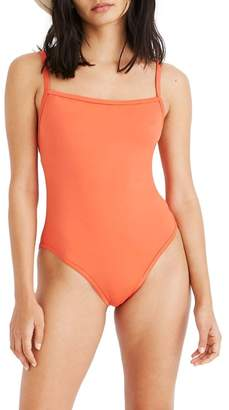 Madewell Second Wave Straight One-Piece Swimsuit