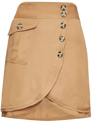 Self-Portrait Asymmetric Mini Skirt