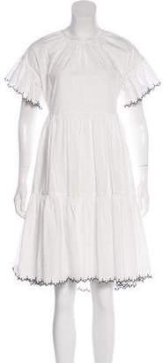 Ulla Johnson Short Sleeve A-Line Dress