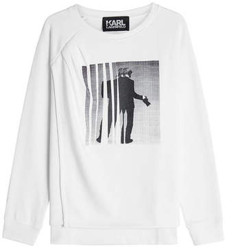 Karl Lagerfeld Printed Cotton Sweatshirt