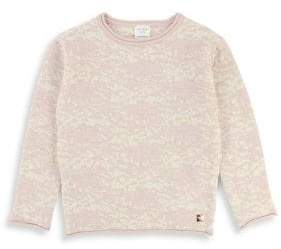 Carrement Beau Girl's Lurex Jacquard Sweater