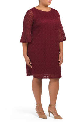Plus Nantucket Knit Shift Dress