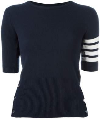 Thom Browne cashmere stripe detail sweater