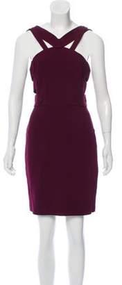 Roland Mouret Sleeveless Cutout Dress Plum Sleeveless Cutout Dress