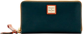 Dooney & Bourke Pebble Grain Large Zip Around Wristlet
