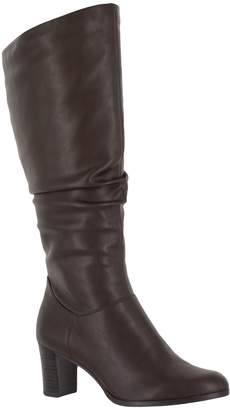 Easy Street Shoes Ruching Detail Tall Boots - Tessla