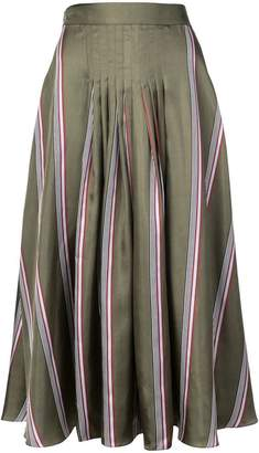 Roksanda striped flared midi skirt