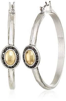 Lucky Brand Women's Pave Gem Hoop Earrings