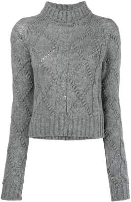 Jil Sander cable knit fitted sweater
