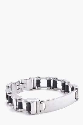 boohoo Box Chain ID Bracelet