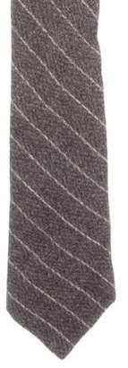 Brunello Cucinelli Wool Striped Tie w/ Tags
