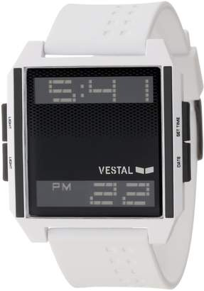 Vestal Men's DIG018 Digichord Ultra Thin White Negative Watch