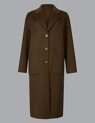 Autograph Single Breasted Coat with Wool