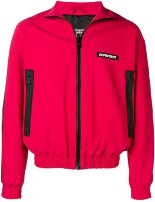 Represent contrast zip sport jacket