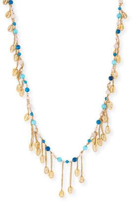 Rosantica Antilla Puka Shell Long Dangle Necklace