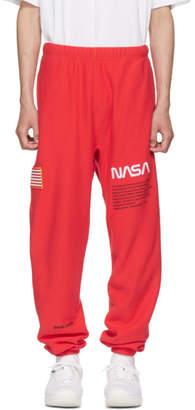 Heron Preston Red Fleece Lounge Pants