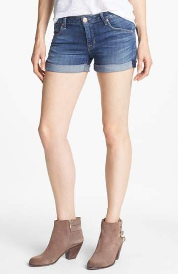 Cuff Denim Shorts