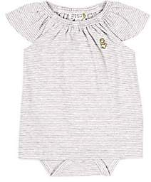 Barneys New York Infants' Striped Dress-Gray