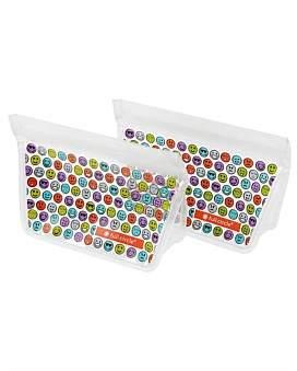 Full Circle Reusable Sandwich Bags 2 Piece Set Emoji 400Ml