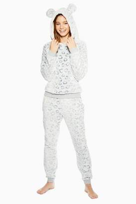 Topshop Cut Leopard Print Sweater and Joggers