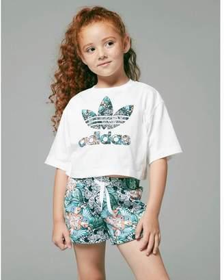 adidas Girls' Zoo Infill T-Shirt/Shorts Set Children