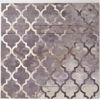 Oliver Gal 'Arabesque Silver ' Wood Art