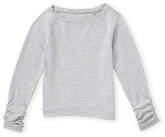 French Toast (Toddler Girls) Rouched Long Sleeve Tee