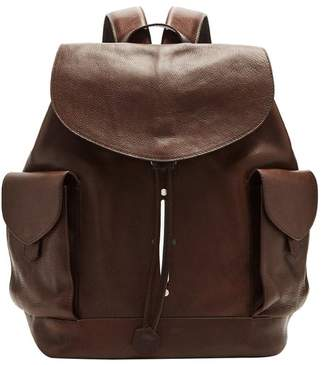 Lee Passavant And Scier Edition Leather Backpack - Mens - Dark Brown
