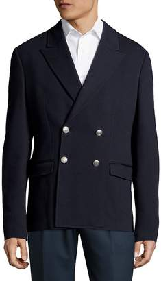 Pierre Balmain Men's Peak Lapel Double-Breasted Blazer