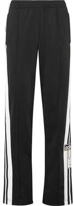 adidas Striped Satin-jersey Track Pants - Black