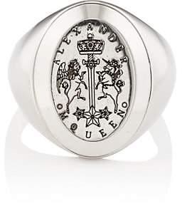 Alexander McQueen Men's Signet Ring - Silver