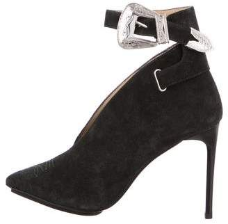 Toga Suede Ankle-Strap Pumps