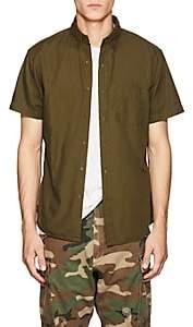Barneys New York Men's Cotton Button-Down Shirt - Olive