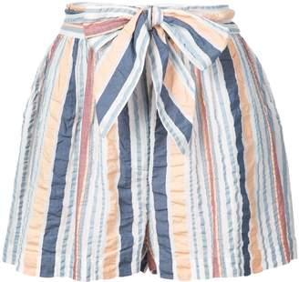 Ulla Johnson stripe belted shorts