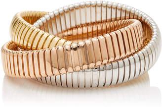 Sidney Garber Tri-Color 12mm Rolling Bracelet
