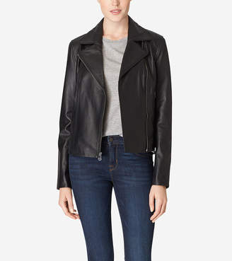 Italian Leather Motorcycle Jacket $700 thestylecure.com