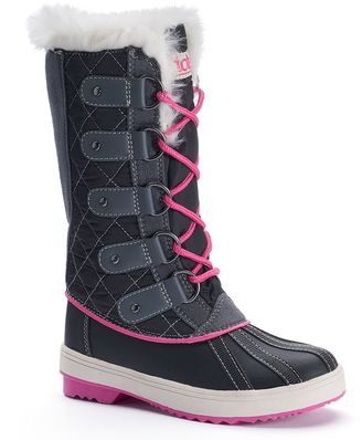 Totes Suri Girls' Water-Resistant Winter Duck Boots $59.99 thestylecure.com