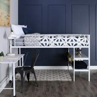 LOFT Mainstays Ansley Metal Twin Low Bed, White