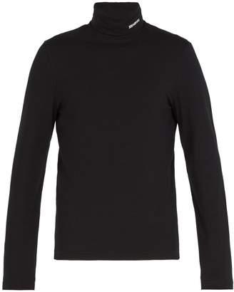Calvin Klein Roll-neck cotton-blend top